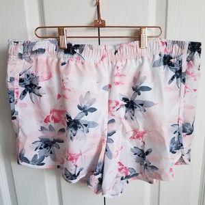 Xersion   Tropical Pink Burnout Running Shorts